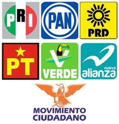 (Logotipos de los 7 Partidos Políticos con Registro Nacional en México)