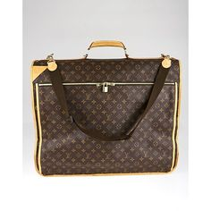 Pre-owned Louis Vuitton Monogram Canvas Garment Carrier Bag ($1,095) ❤ liked on Polyvore featuring bags and luggage