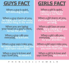 guys fact vs girls fact, I'm gonna have to say I like the girls side because mostly we can tell when someone's lying so yea boys.... Watch it lol