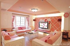 Hello, Kitty themed room....for Nikki Perritt