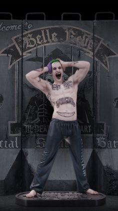 The Joker statue, sculpted by James Marsano.