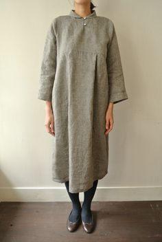 Standing Shawl Collar Dress