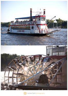 La Crosse Queen paddle wheeler on Mississippi River in La Crosse, Wisconsin. justintrails.com