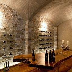Luxus pur - Design-Weinkeller für die edelsten Weine und Hauspartys mit Geschäftspartnern und Freunden. Design, Exclusive Real Estate, House Party, Wine Cellars, Villas, Luxury