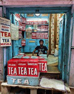 In case you were wondering, this Indian shop sells tea.