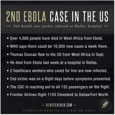 A 2nd nurse in Dallas has tested positive for Ebola.