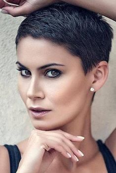 Super Very Short Pixie Haircuts & Short Hair Colors 2018 2019 short hair 50 Best Very Short Haircuts - Hairstyles Fashion and Clothing Very Short Pixie Cuts, Very Short Haircuts, Short Hairstyles For Women, Short Hair Cuts, Choppy Haircuts, Long Pixie, Short Cropped Hair, Super Short Hair, Super Hair