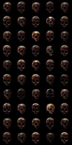 » 50 Carteles de Cráneos con Patrones Inspirados en las Culturas Milenarias por Billy Bogiatzoglou