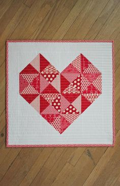 True Love Mini Quilt Free Quilting Pattern