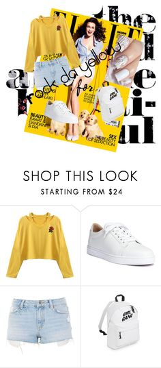 """Rock da yellow"" by yasminekaramostefa on Polyvore featuring Christian Louboutin and Topshop"