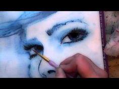 water colour aquarelle timelapse aqua marker face