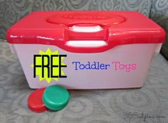 Day 321: Toddler Play (for free) 365(ish) Days of Pinterest #kids #activities #recycle
