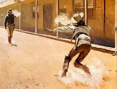 SHOOTING IT OUT by Harold von Schmidt