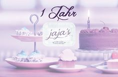 jaja's just got 1 year. Thank you for all the support! Cafe Bistro, 1 Year, Place Cards, Place Card Holders, Haha
