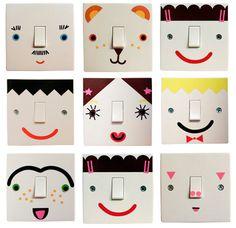 Habitaciones infantiles, ¡interruptores decorados!