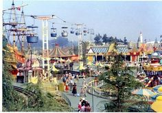 The old, original Fantasyland... at Disneyland. Probably late 1950's or early 1960's.