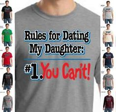 16ffba8e Funny Dads With Daughters Dating Protective Father Family Mens T-Shirt