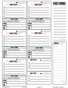 Free Printable Weekly To Do List from Vintage Glam Studio