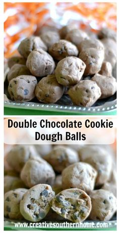 Double Chocolate cookie dough balls. They will disappear fast! www.creativesouthernhome.com