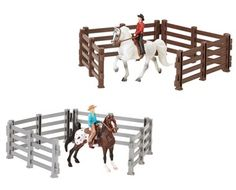 Stablemates Horse & Rider 2 pc Western