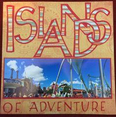 islands of adventure, The hulk scrapbook layout