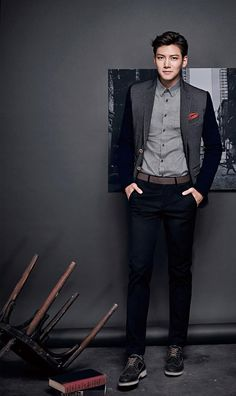 Ji Chang Wook gives Jung Woo Sung a run for his money because dressed in ADHOC's new F/W collection, the Empress Ki star is just as debonair as his veteran counterpart ; Korean Star, Korean Men, Asian Men, Ji Chang Wook Smile, Ji Chang Wook Healer, Asian Actors, Korean Actors, Korean Dramas, Ji Chang Wook Photoshoot