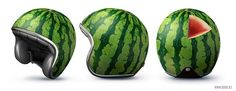 Watermelon Motorcycle Helmet from Good! Creative Marketing, a Russian Marketing firm
