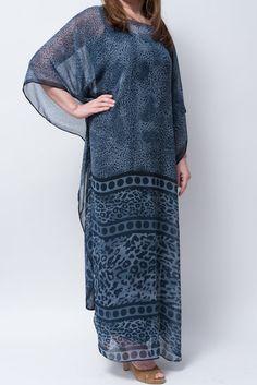 Sheer Silky caftan kaftan abaya women resort wear long dress