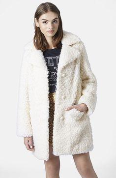 Topshop Faux Fur Car Coat - love this coat