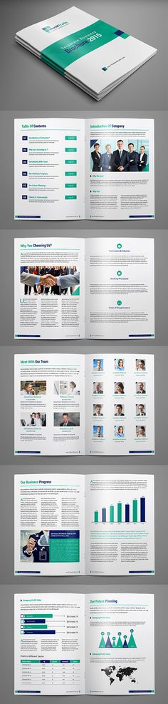 Business Brochure Psd Template  Annual  Brochures  Flyers