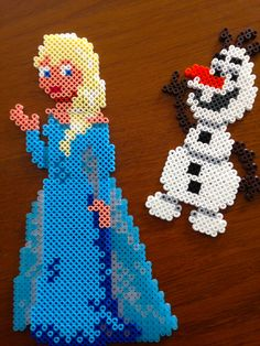Elsa und Olaf aus Bügelperlen #Regentage 8