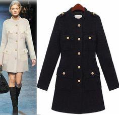 Morpheus Boutique  - Black Long Sleeve Trench Button Down Celebrity Coat, CA$143.57 (http://www.morpheusboutique.com/black-long-sleeve-trench-button-down-celebrity-coat/)