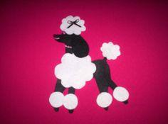 "Felt Black White Poodle Applique for Poodle Skirt 50s's Costume x Large 8""X10"" | eBay"