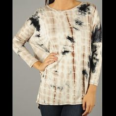 Native Colors Tie-dye Shirt Soft, relaxed, comfort fit. Accommodates large bust lines. Medium weight fabric. Beautiful colors on this shirt. Brand new for retail boutique.   Fabric Content: 95% rayon, 5% spandex Fit: Runs large and is intended to fit loose    ❗️DO NOT PURCHASE THIS LISTING❗️       State size and I will list for you          PRICE IS FIRM UNLESS BUNDLED Tops