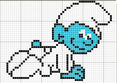 Baby Smurf perler bead pattern