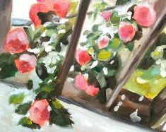 Mukta's Flowers by MariaTepperPaintings on Etsy Natural Light, Art Pieces, Etsy Seller, Presents, Paintings, Handmade Gifts, Artwork, Flowers, Gifts
