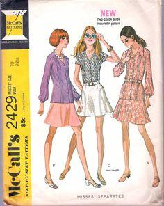 Patrón de costura simplicidad 8891 Vestido Blusa Camisa de misses y Recortada Pantalones
