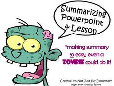 Summarizing and Main Idea Powerpoint w/ Video Clips and Activities