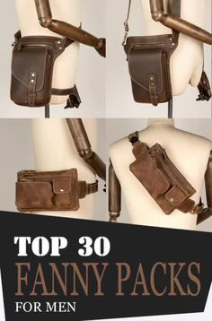 Fanny packs are also versatile! Each type serves different kinds of purposes that match everyone's needs and demands in a portable carrier! Leather Fanny Pack, Mens Style Guide, Waist Pack, Wallet Chain, Leather Purses, Leather Men, Gifts For Women, Hunting Trips, Messenger Bag