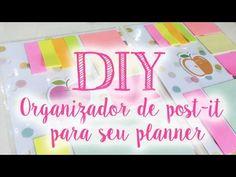 DIY - Organizador de post-it para o planner - YouTube