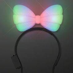 Light Up Hard Shell Bow Headband Multicolor Dance Outfits, Night Outfits, Outfit Night, Rave Gear, Bubble Wands, Green Led, Color Changing Led, Blue Bow, Different Light