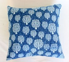 Backing Color is Indigo Blue with Solid Pattern. This is a Cotton Fabric Hand Tie & Dye Cushion cover. - Pillow Insert is Not Included. - This Cushion Cover Has One Zipper Closure on The Back Side. Dabu Print, Printed Cushions, Pillow Inserts, Decorative Pillows, Indigo, Pillow Cases, Cotton Fabric, Throw Pillows, Shibori