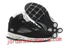 Air Jordans 5 V Column Men Casual Shoes Black White