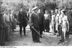 Hermann Göring and Albert Kesselring meet with Luftwaffe personnel in France during the Battle of Britain, September - October 1940.