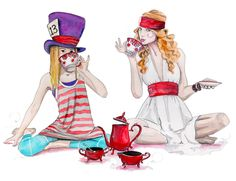 Taylor Swift Tea Party Painting