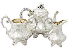 Sterling Silver Three Piece Tea Service - Antique Victorian SKU: A3386 Price GBP…