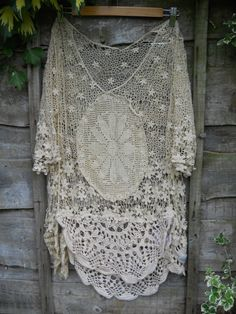 RNT OFSA COTTON CROCHET VINTAGE TOP PLUS SIZE OOAK SHABBY CHIC LAGENLOOK HIPPIE in Clothes, Shoes & Accessories | eBay