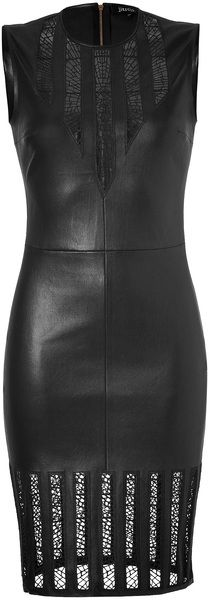 Black Leather Cathedral Dress
