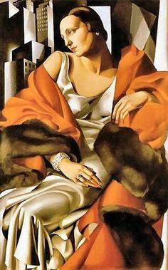 "Artist : Tamara de Lempicka, (ie: the queen of Art Deco)-painting is called : ""Portrait of Madame Boucard"" Estilo Art Deco, Arte Art Deco, Moda Art Deco, Art Deco Artists, Art Deco Paintings, Pinturas Art Deco, Tamara Lempicka, Art Deco Stil, Art Deco Movement"
