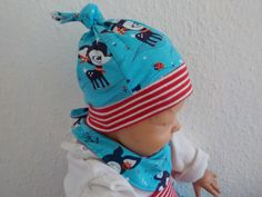 Mützen - Babymütze Knotenmütze Wunschgröße - ein Designerstück von…